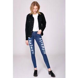3x1 W3 High-Rise Distressed Skinny Jeans $255 NWT